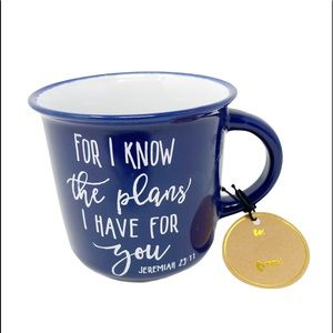 ECCOLO Jeremiah 29:11 Navy Blue Coffee Mug